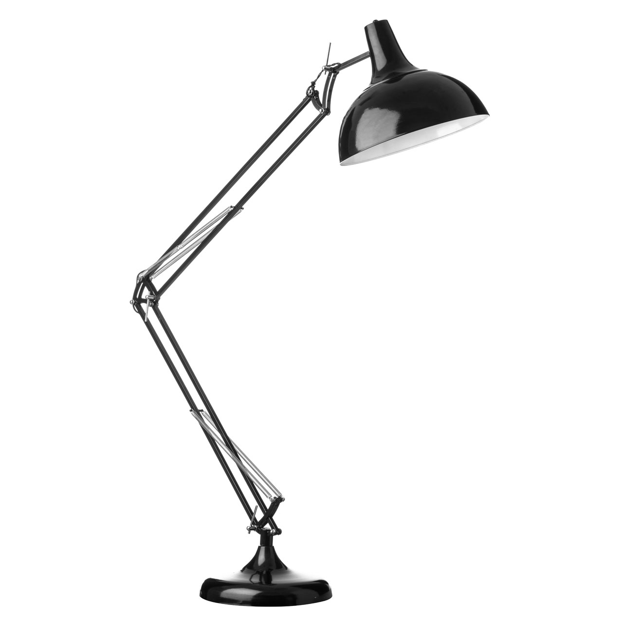 Adjustable  Black Floor Standing Lamp