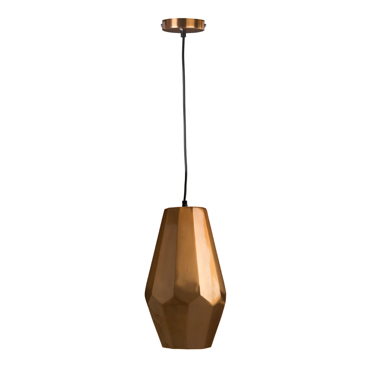 Copper Geometric Ceiling Light