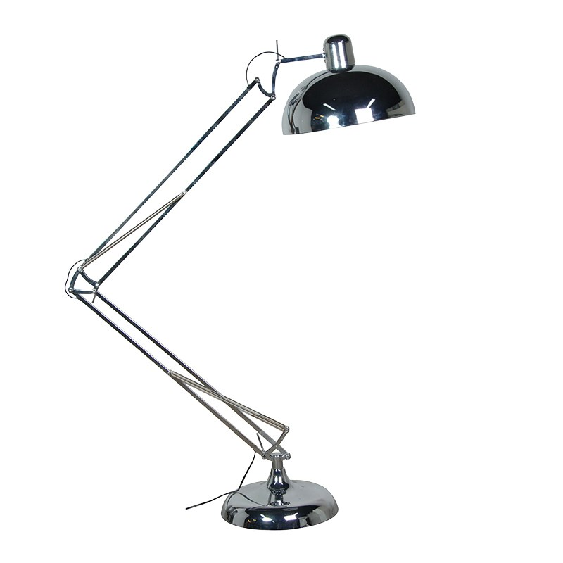 Adjustable Chrome Floor Standing Angle Lamp