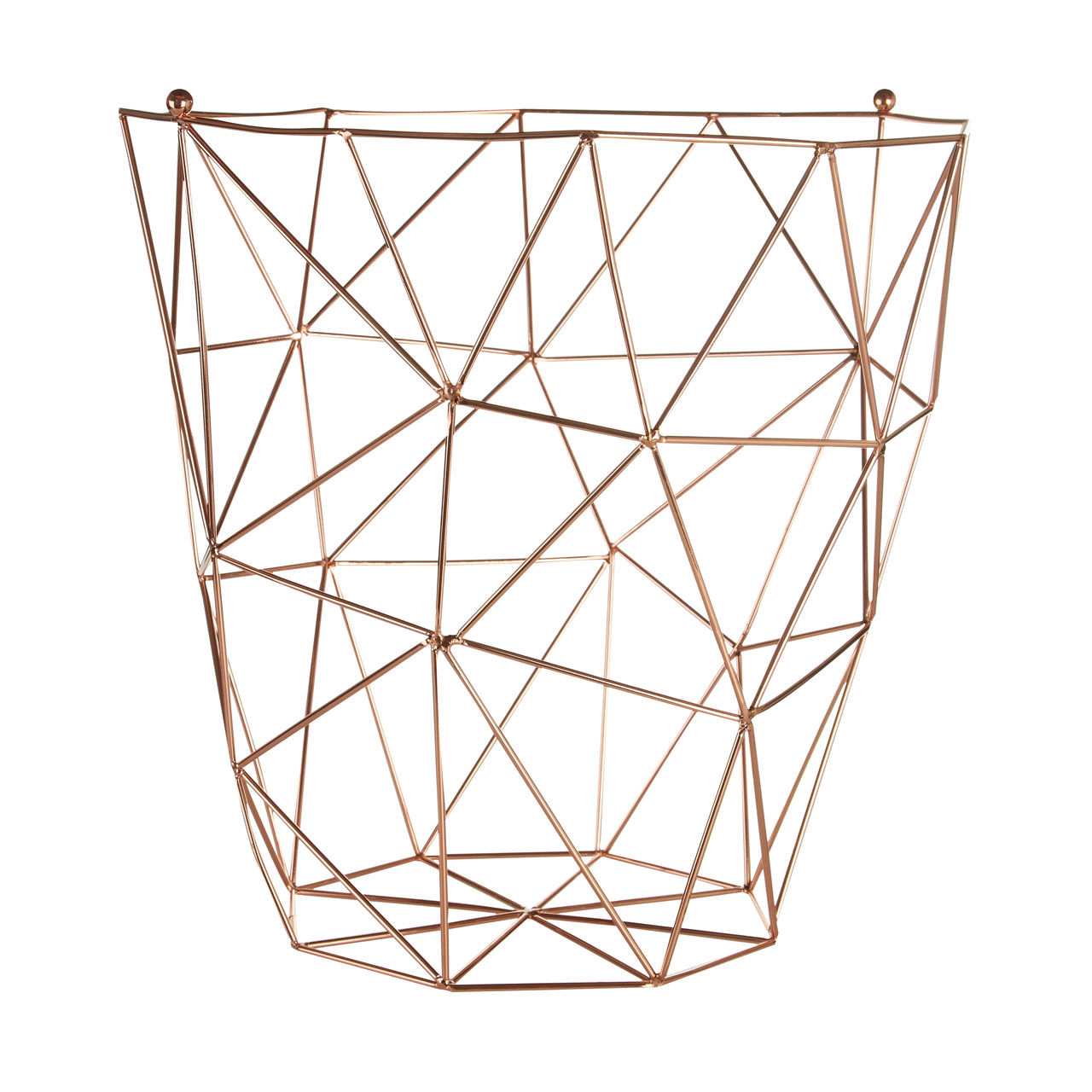 Copper Waste Basket