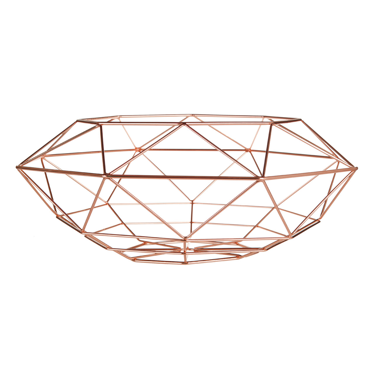 Geometric Copper Basket