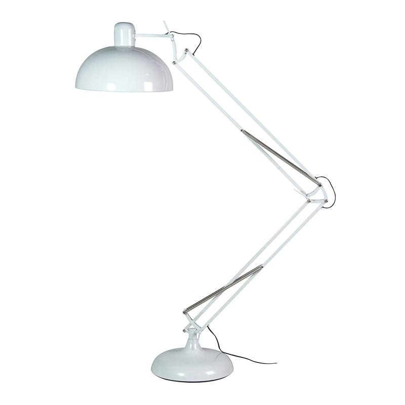 Adjustable White Floor Standing Angle Lamp